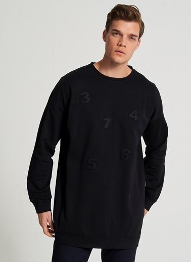 Pi π Aplike Detaylı Sweatshirt Siyah